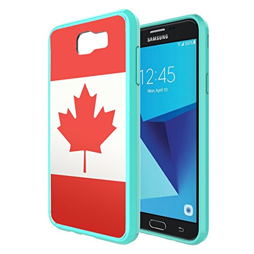 Galaxy J7V / J7 Sky Pro Case, Galaxy J7 Perx Case, Capsule-Case Hybrid Slim Snap-on Case w/ TPU Edges (Teal) for Samsung Galaxy J7 2017 J7 V / J7 Sky - Tiffany Canada