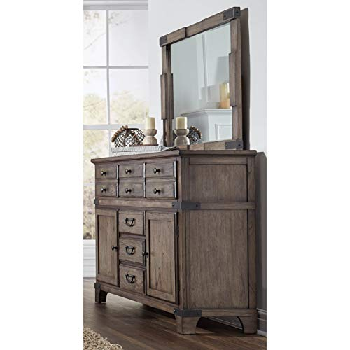 Lifestyle Solutions Boston 6 Drawer Dresser in Vintage Brown ()
