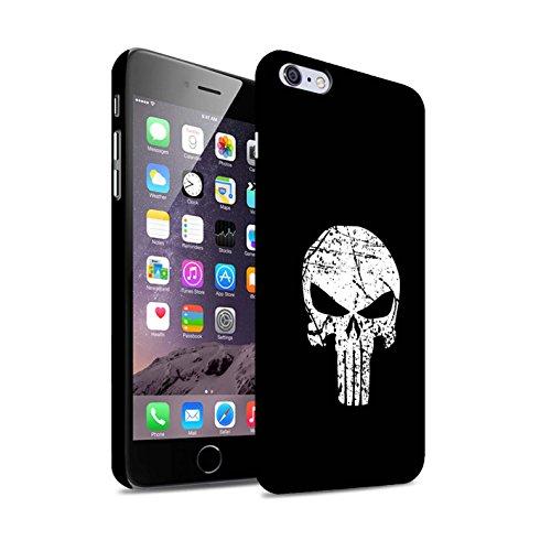 STUFF4 Matte Hard Back Snap-On Phone Case for Apple iPhone 6+/Plus 5.5 / Punisher Inspired Art Design / Anti-Hero Comic Art Collection