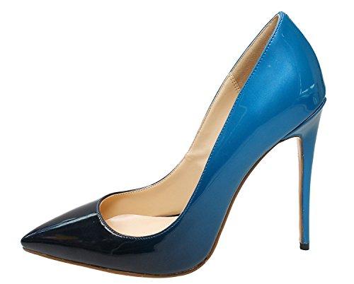 Licht Blauwe Pumps : Guoar dames gradiënt ondiepe puntschoen hoge hakken pumps schoenen