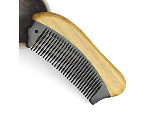 - Hair Brush Fish-shaped Inlaid Comb Green Sandalwood Comb Portable Massage Comb