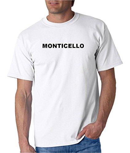 (MONTICELLO - City-series - White Adult T-Shirt - size Medium )