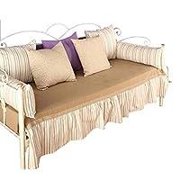 Divano letto in ferro battuto completo di rete a doghe Fiocco bianco oro