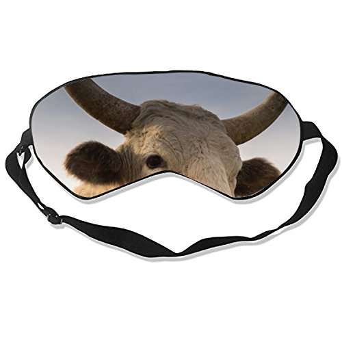 Cattle Licking Nose Sleep Eye Mask for Sleeping Contoured Eyemask Silk Best Night Blinder Eyeshade for Men Women Kids
