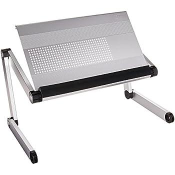 Uncaged Ergonomics Adjustable Height/Angle Holder Desktop Book Stand, Silver (RS-s)