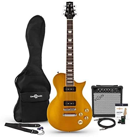 New Jersey Select Guitar by Gear4music + 15W Pack Glorious Gold: Amazon.es: Instrumentos musicales