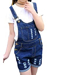 Lutratocro - Pantalones cortos vaqueros para niña, estilo vaquero