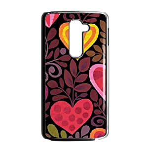 Hearts in Bloom LG G2 Cell Phone Case Black phone component RT_428024