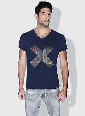 Creo Doha X City Love T-Shirts For Men - Xl, Blue