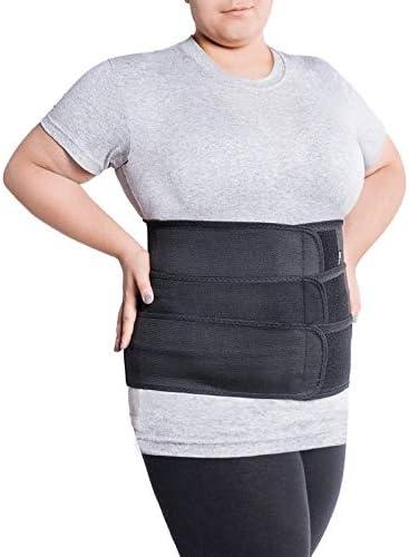 Faja de sujeción para la espalda; cinturón lumbar con fijación rígida; 6 pliegues/31cm de altura; para personas con gran circunferencia en la cintura XX-Large Negro