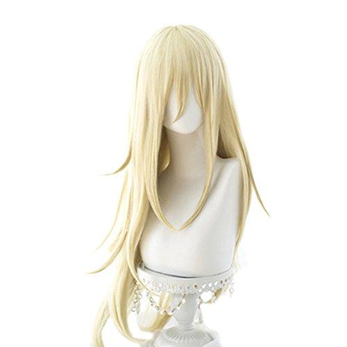 Rachel Gardner Ray Cosplay Wig Xcoser Satsuriku no Tenshi Angel of Massacre Golden Long Straight Hairs for Women