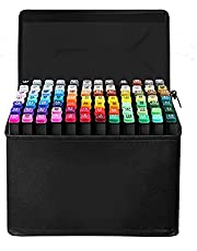BWSJ 40 Color double nib art marker pen permanent based marker color artist drawing marker pen sketch marker pen suitable for children with exquisite color fixed illustrations
