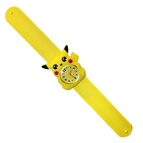 [AmebaConcept POKEMON GO Yellow Pikachu Silicone Slap Watch Accessories] (Game Boy Fancy Dress Costume)