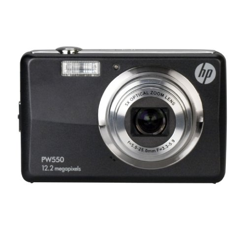 HP PW550 12 MP Digital Camera with 5X Optical Zoom and 2.7-Inch LCD (Black)