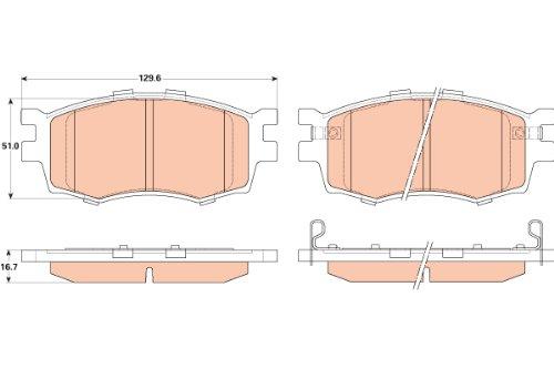 TRW TPC1156 Premium Ceramic Front Disc Brake Pad Set