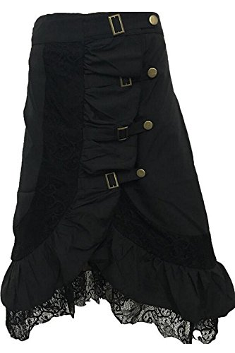 Joyshop Women's Floral Tapestry Brocade Black Strapless Lace up Boned Overbust Corset Top,Small