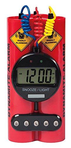 Dynamite Alarm Clock - Novelty, Wacky & Fun Alarm Clock (Fun Alarm Clock)