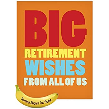 Amazon big retirement wish greeting cards 10 pack funny big retirement wish greeting cards 10 pack funny congratulations happy farewell note m4hsunfo