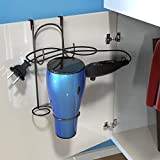 Lavish Home Hair Dryer Holder- Over-the-Cabinet Door Hanging Caddy, Bathroom Styling Rack Holster for Curling Iron, Blow Dryer, and Flat Iron