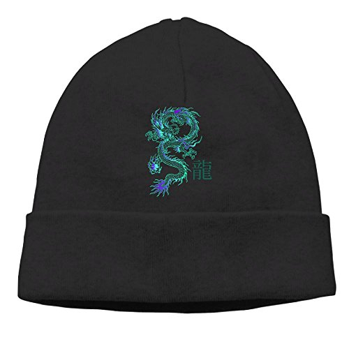 Dragon Knit Beanie (Long Dragon Cartoon Men's Unisex Beanie Hats Warm Winter Skull Cap)