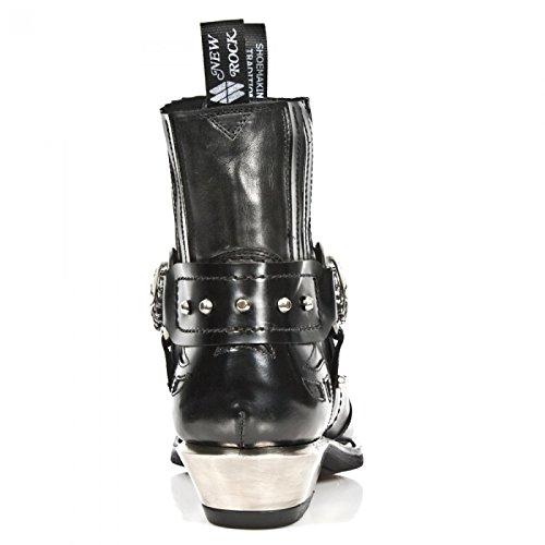 New Rock Boots M.7966-s1 Urban Biker Hardrock Mens Stivaletti Neri