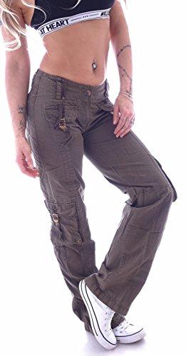 Donna Cargo Style station Cachi Jeans q86U7H