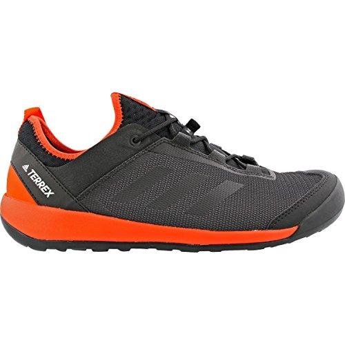 adidas Sport Performance Men's Terrex Swift Solo Hiking Sneakers, Black, Mesh, Textile, Rubber, 8 M
