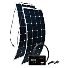 Go Power! (GP-FLEX-200) 200W Flexible Mono Crystalline Solar Kit with 30 Amp PWM Solar Controller