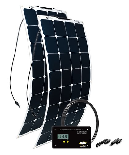 Go Power! (GP-FLEX-200) 200W Flexible Mono Crystalline Solar Kit with 30 Amp PWM Solar Controller Go Power! Solar Power And Accessories