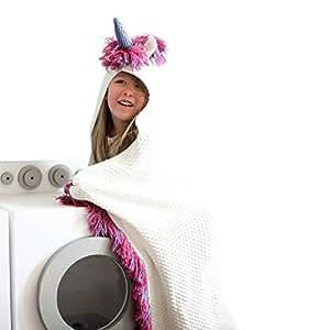 Amazon.com: Born To Unicorn Blanket For Girls- Hooded