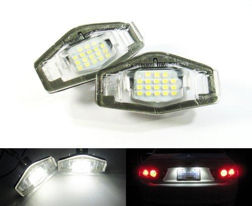 LEDIN LED License Plate Light 34100S84A01 34104S0A013 OEM Replacement Kit For Honda Acura