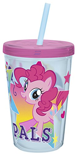 Zak Designs My Little Pony 13 oz. Insulated Tumbler With Straw, TV Series -
