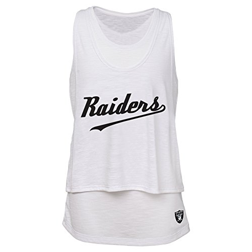 - Outerstuff NFL Junior Girls Double Tier Layered Tank Top, Oakland Raiders, White, XL(15-17)