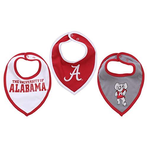 NCAA Alabama Crimson Tide Bib Set (3 pcs) Baby Boy or Girl ()