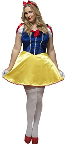 Ladies Sexy Snow White Princess Film Hen Do Party Fairytale Fancy Dress Costume Outfit 16-30 Plus Size (UK -