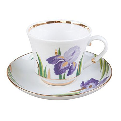 Lomonosov Porcelain Tea Set 2pc Cup and Saucer Banquet Iris 7.4 oz/220 ()