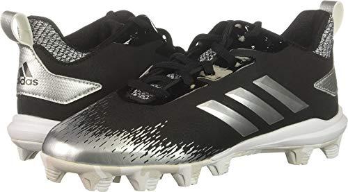 size 40 ed5d9 400e2 adidas Unisex Adizero Afterburner V Baseball Shoe Black Silver Metallic  White 3.5 M US Big Kid