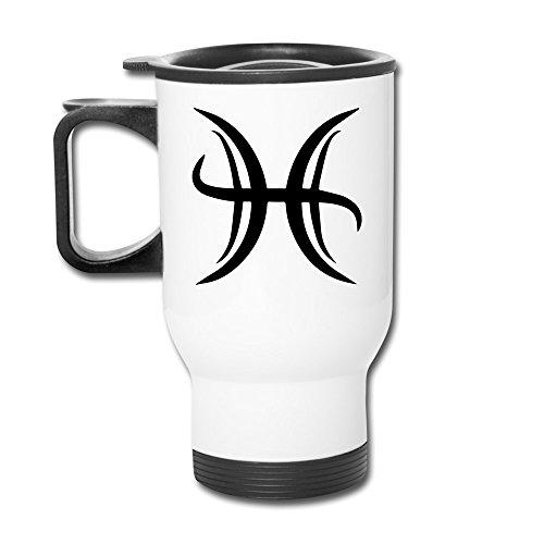 Jewelry Cool Custom (12 Oz Travel Mug - Pisces The Fish Zodiac Symbol Mug)