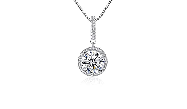 CS-DB Jewelry Silver Wedding Gift Engagement Chain Charm Pendants Necklaces