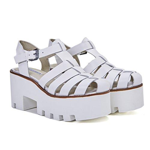 WINDSOR duveteux femme sandales Bianco SMITH blanc rqzr108w