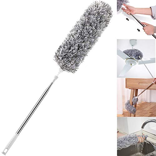(Improved Extra Long Microfiber Duster with Extension Pole (30-100