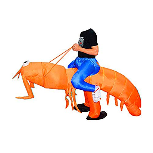 (BlueSpace Inflatable Costumes Hallowenn Cosplay Costumes Gaint Lobster Suit for Audlts and)