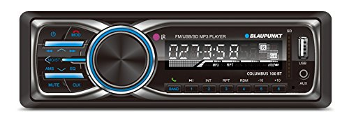 Blaupunkt COLUMBUS 100 BT MP3 and FM Bluetooth Car Stereo Receiver with USB, SD and AUX Port and Remote Control