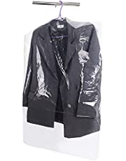 Disposable Clear Garment Bags Dry Cleaning Laundrette Polythylene Garment Clothes Cover Protector Bags Hanging Garment Bags,Suit Bags Dust Cover for Closet Clothes Storage