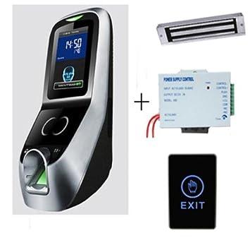 iface7 Rostro y huella dactilar Control de acceso Kit + fuente de alimentación + 280 KG cerradura magnética: Amazon.es: Informática