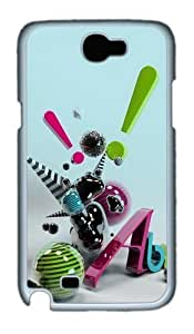 3D Abstract Art Custom Designer For Case Samsung Galaxy Note 2 N7100 Cover - Polycarbonate - White
