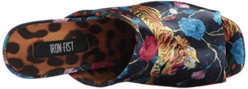Deslizante tacón Tiger para de Iron Mujer Multicolor Fist Bomba qFIIXT