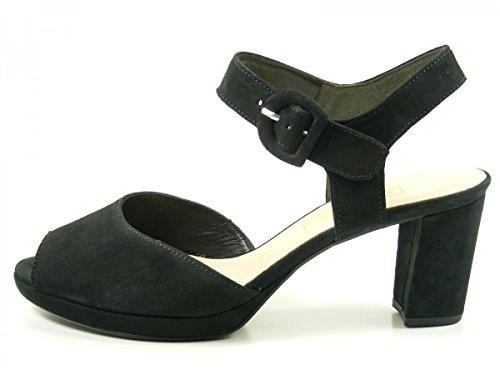 mujer Sandalias fashion Gabor 700 de cuero Schwarz 61 Eq78WwvO