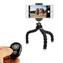 KobraTech Mini Phone Tripod Stand - TriFlex Mini - The Best Flexible iPhone Tripod for Any Smartphone (Black)
