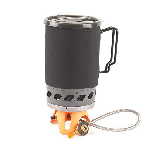 Topaty - Estufa de gas externa de dos usuarios, maceta y tazón integrado para muebles, estufa resistente al viento, estufa...